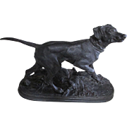 19thC Sculpture of a Spaniel, Hunting Dog