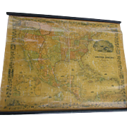Rare c1853 Colton's Wall Map of the United States of America