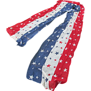 SOLD 19thC Patriotic Gauze Bunting, Red White & Blue with Stars