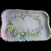 Lovely Antique Hand Painted French Haviland Limoges Platter