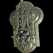 Antique Gothic English Brass Letter Clip, Desk Paperclip