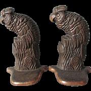 c1920s Art Deco Parrot, Bird Cast Iron Bookends