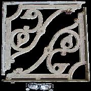 Pair Big 19thC Cast Iron Architectural Brackets