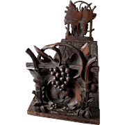 SOLD Antique Hand Carved German Black Forest Bookends