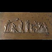 SALE PENDING 19thC Bronze Plaque, The Flight of Cupid
