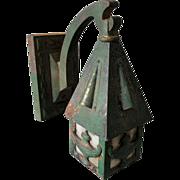 Antique Cast Iron Porch Light, Sconce with Aladdin Lamps