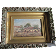 SOLD 19thC Impressionistic Oil Painting of Southwestern Landscape