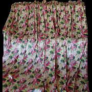 4 Elegant c1940s Floral Curtain Drapery Panels