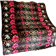 Nice Antique Mohair Sleigh or Buggy Blanket by Chase