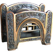 SOLD Art Deco, Nouveau Desk Top Rose Trellis Letter Holder