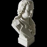 19thC Parian Porcelain Bust of Schiller, Robinson & Leadbeater