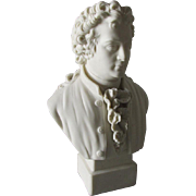19thC Parian Porcelain Bust of Gothe, Robinson & Leadbeater
