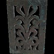 Antique Bronze Grate, Garden, Architectural Element