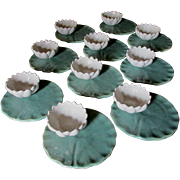 10 Arts & Crafts Art Pottery Water Lily Bowl/Plates