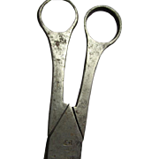 Rare 18thC Hand Forged, Cut Steel Scissors, Shears, Signed