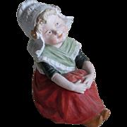 Antique Victorian Gebruder Heubach Piano Baby , Dutch Girl