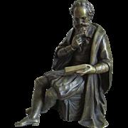 French Bronze Sculpture of Contemplative Gentleman