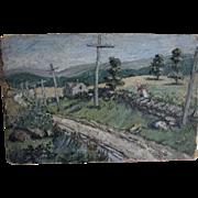 SALE PENDING c1920-30 Impressionistic Oil Painting