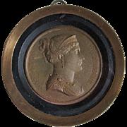 French Grand Tour Medallion of Josephine, Napoleon Bonaparte