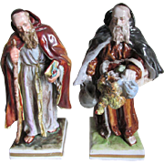 Pair German Porcelain Monk Figurines