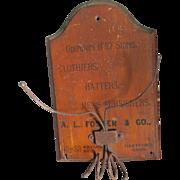 19thC Advertising Hat Rack Cane Holder, Hartford CT