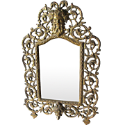 Antique Bradley Hubbard Mirror, Picture Frame with Bacchus