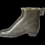 c1910-20s Nugget Boot Polish Figural Shoe Cigarette Lighter