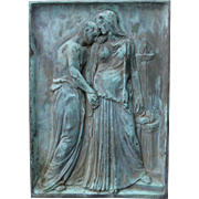 c1914 Bronze Relief Plaque, Farewell by  Carl M. Geiling