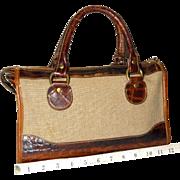 SALE Vintage Brahmin Tuscan Croco Satchel Original U.S. Model