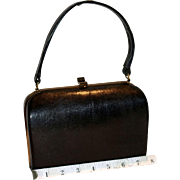 SALE 1950's Monitor Lizard Framed Box Satchel ExactMatch by Harry Revits.
