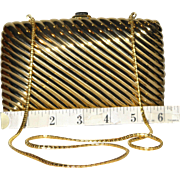 SALE Judith Leiber Ribbed Minaudiere