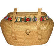 SALE 1930's Bag by Josef Wicker Handbag