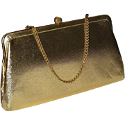 SALE 1950's Admiral Gold Lame Convertible Clutch