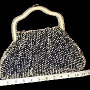 SALE 1950's Cordé Bead Reversible Satchel by Lumured.