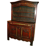 18th c. French Buffet or Cupboard in Dark Oak