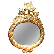 SOLD Early 19th c. English George III Gilded Mirror with Eagle