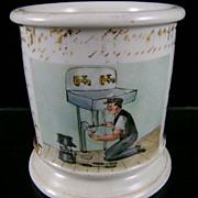 "19th c. Occupational ""Plumber"" Mug"