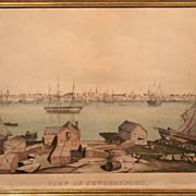 "SALE Fitz Hugh Lane ""View of Newburyport"" Lithograph ca. 1846"