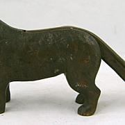 """Brass Nutcracker 12"""" Dog Form, Retriever circa 1900"""