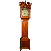 Daniel Rose Chippendale Tall Case Clock, Pennsylvania c. 1790
