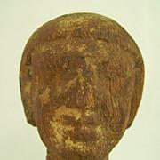 Egyptian Wooden Male Head circa 2061-1784 BC