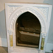 SOLD 19th c. Marble & Onyx Tabernacle Mirror Architectural Church Element