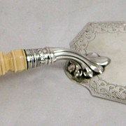 SOLD Sheffield Sterling Silver Trowel with Ivory Handle 1846