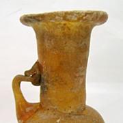 Ancient Roman Blown Amber Glass Jug or Pitcher
