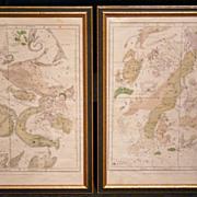 Pair of Astrological Maps F.J. Huntington 1835