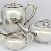 Carl Ernst 4-Piece Sterling Silver Tea and Coffee Service