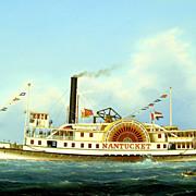 "William R. Davis Oil Painting ""Steamboat Nantucket"""
