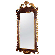 SOLD 18th Century Chippendale Mahogany & Gilt Mirror