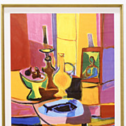 "Marcel Mouly Signed Lithograph ""Nature Morte au Poisson "" Picasso"