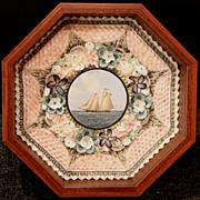 William R. & Judy Davis Sailor's Valentine with Schooner Yacht